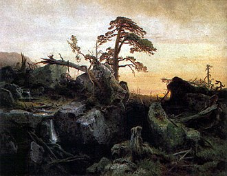 August Cappelen - Dying forest (1851)