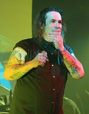 "Steve Souza - Image: Steve ""Zetro"" Souza on stage with Dublin Death Patrol"