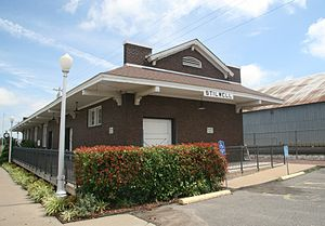 Stilwell, Oklahoma - Former train depot in Stilwell