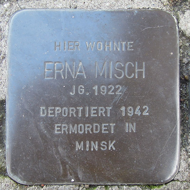 Stolperstein für Erna Misch