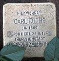 Stolperstein Argentinische Allee 4 (Zehld) Carl Fuchs.jpg