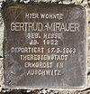Stolperstein Janitzkystr 37 Gertrud Mirauer.JPG