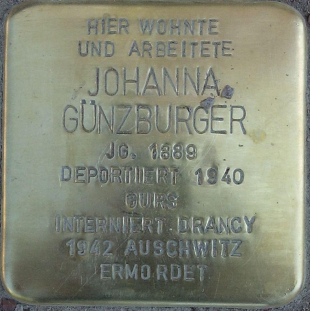 Stolperstein Johanna Günzburger - NK Bahnhof25.jpg