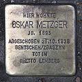 Stolperstein Sophienstr 22 (Mitte) Oskar Metzger.jpg
