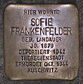 Stolperstein Würzburg Sofie Frankenfelder.JPG