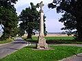 Stone cross at Alymerton, Sunday 31st August 2008 (2).JPG