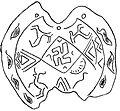 Stonegrave Petroglyph Swastikas from Ancient Armenia Kakhik Shamkhor Armenia.jpg
