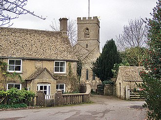 Stonesfield - View from The Cross to St James' church
