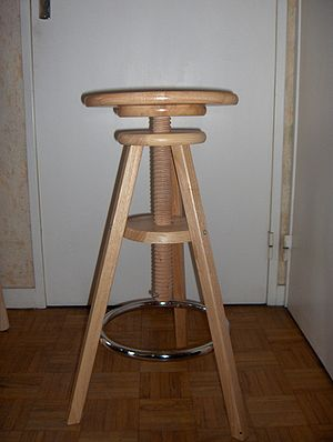 A stool with adjustable height.
