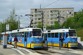 Tatra T3 - Modernized Tatra T3D trams in Chemnitz, Germany