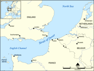 Strait at the narrowest part of the English Channel