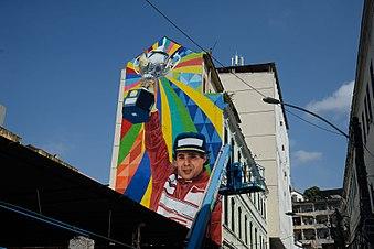 398b8639ea Mural em homenagem a Ayrton Senna no Rio de Janeiro (2016)