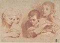 Studies of a Boy and a Girl (recto) Studies of Legs (verso) MET DP808293.jpg