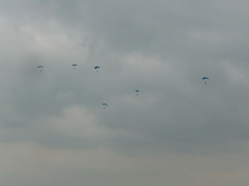 Studland Beach , Parachutists - geograph.org.uk - 1710928