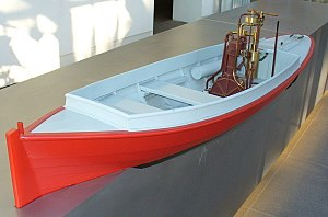 Motorboat - Model of the first motor boat constructed by Gottlieb Daimler and Wilhelm Maybach in 1886.