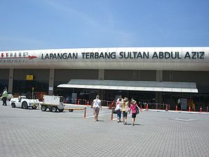 Sultan Abdul Aziz Shah Airport - Exterior view of the newly refurbished Subang skypark terminal from the pavement