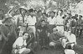 Sudirman resting with guerillas, Kota Jogjakarta 200 Tahun, plate before page 65.jpg