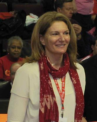 Sue Wicks - Sue Wicks, being honored at Rutgers-UConn game