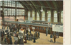 Sullivan Square (MBTA station) - Old elevated station in 1905