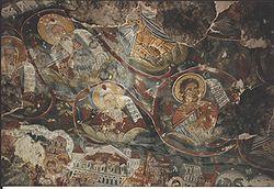 Sümela Manastırı'nda bir fresk