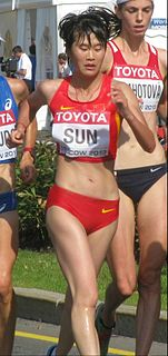 Sun Huanhuan Chinese female racewalker