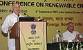 Sushil Kumar Shinde giving keynote address at a National Conference on Renewable Energy to discuss status and future plans of renewable energy and its urban, industrial and commercial applications, in New Delhi.jpg