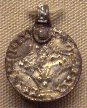 Sweyn II of Denmark - Sven Estridson coin pendant, found in Mildenhall, Suffolk. British Museum.