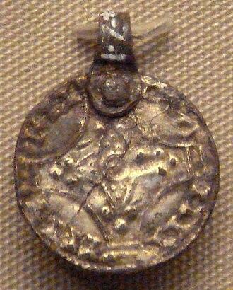 Sweyn II of Denmark - Sven Estridson coin pendant, found in Mildenhall, Suffolk. British Museum.