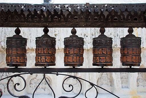 Swayambhunath prayer wheels