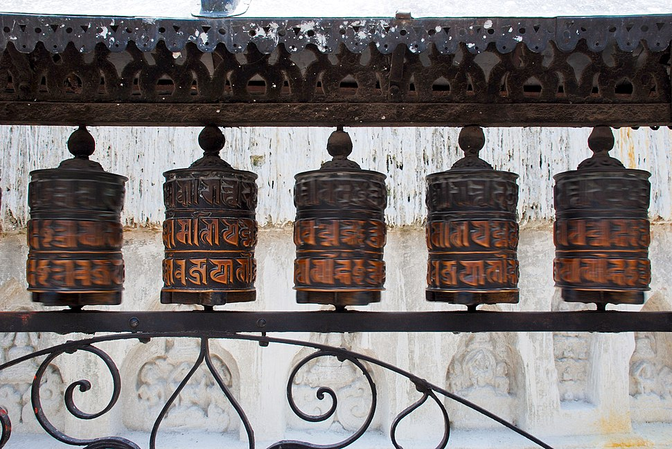 Swayambhunath prayer wheels