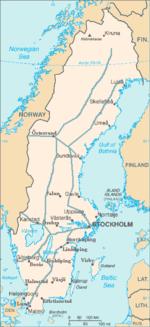 Rail Transport In Sweden Wikipedia - Sweden rail network map