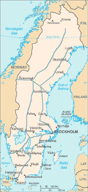 Rail transport in Sweden - Main Line railways built in Sweden between 1860-1930.