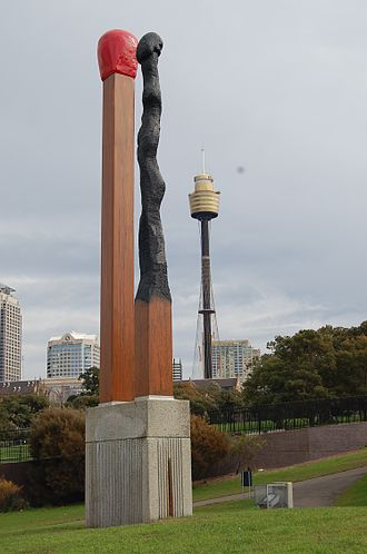 Brett Whiteley - Almost Once (1991), The Domain, Sydney