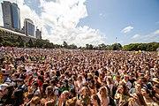manifestantes mudanças climáticas em Sydney, Austrália