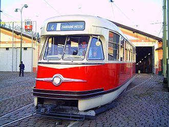 Tatra T2 - Image: T2 praha 3