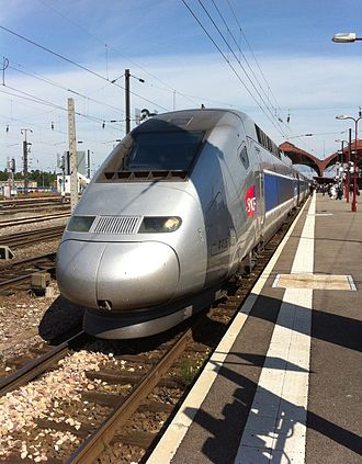 SNCF TGV POS - The TGV POS number 4415 parked at the station in Strasbourg in September 2010, on the Paris-Zurich line via Strasbourg and Mulhouse