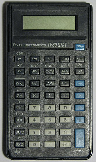 TI-30 - Image: TI 30STAT IMG 4549