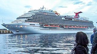 Vista-class cruise ship (Carnival) - Image: TRIESTE NAVI (26741045166) (cropped)