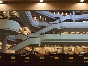 Toronto Reference Library interior, Toronto, C...