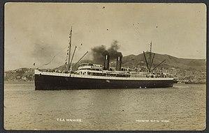 TSS Wahine - Wellington Harbour circa 1936