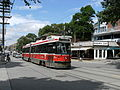 TTC streetcar at Queen East by the Beacher Cafe.jpg