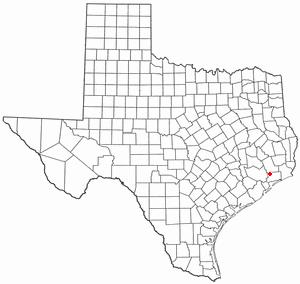 Mont Belvieu, Texas - Image: TX Map doton Mont Belvieu