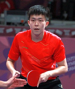 Table tennis at the 2018 Summer Youth Olympics – Men's Singles Gold Medal Match 068 (cropped).jpg