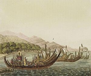 Polynesians - Polynesian warrior canoes