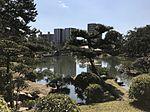 Takueichi Pond and Kokokyo Bridge in Shukkei Garden 3.jpg