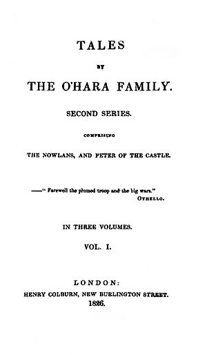 John Banim - Tales of the O'Hara Family, Second Series, 1826