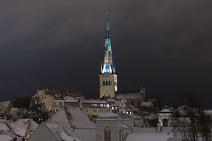 Duchy of Estonia (1219–1346) - St. Olaf's Church is a visible reminder of the Danish era in Tallinn