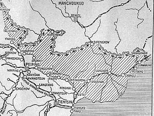Tanggu Truce - Area demilitarized by the Tanggu Truce