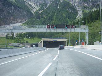 Tauern Road Tunnel - North portal