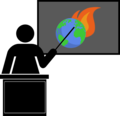 Teaching climate change (blackboard) icon black.png